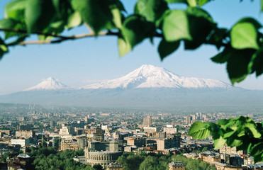 Mountain Ararat, city Yerevan,Armenia.