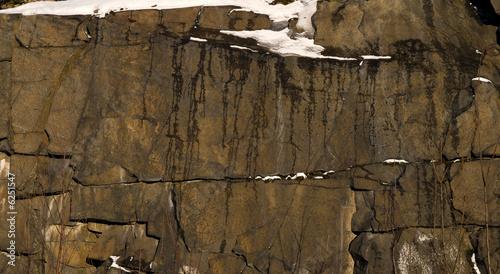 winter, snow, stones, sunlight, background