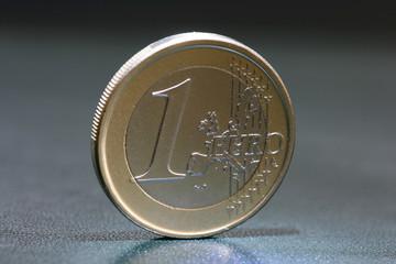 one euro coin closeup