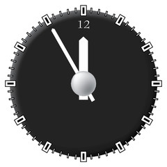 Office clock. Techno style. Vector illustration.