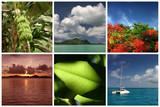 ile vacances tropique lagon océan soleil exotique paradis poster