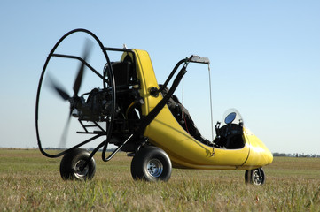 Paraglider Ready for Take-Off