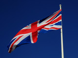 Union Jack flying at the Historic Dockyard, Portsmouth
