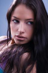 young woman portrait , close up