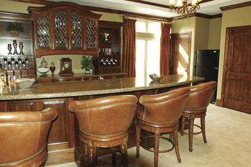 Elegant Home Bar Interior