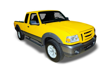 Yellow Pick Up Truck