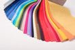 canvas print picture - fabric color samples palette on white