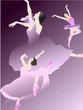 danseuses sur fond mauve