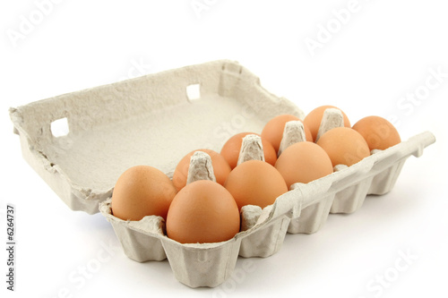 Leinwanddruck Bild Eggbow over white