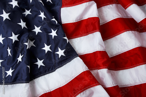 Fotobehang Verenigde Staten American flag background - shot and lit in studio