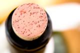 Wine bottle cork. Beverage concept background poster