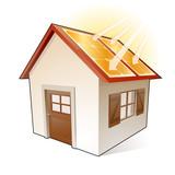 Fototapety Maison avec panneaux solaires