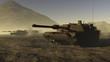 US Battle Tanks in a desert