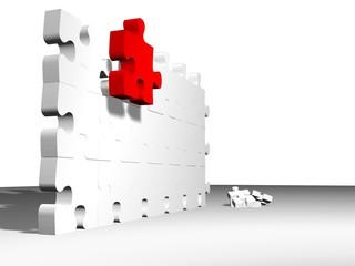 construyendo un muro
