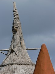 Roof of african hut