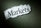 Headline Markets, concept of Markets poster