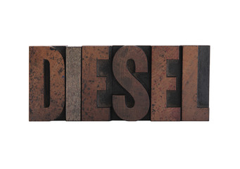 diesel in letterpress wood type