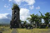 cagsawa church and mayon volcano poster