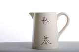 Asian inspired ceramic pitcher poster
