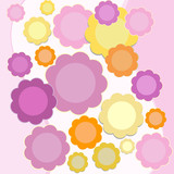 fragile spring flowers; abstract background poster
