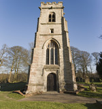 The parish church on the Baddesley Clinton estate  poster