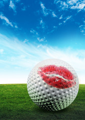 golf ball kiss