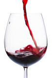 Fototapety Badly poured red wine in the glass