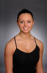 Dancer studio portrait on a grey background
