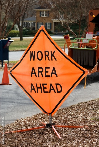 Work area sign 003