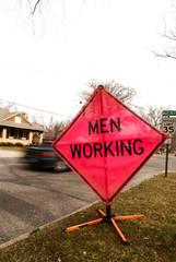 men working sign 03
