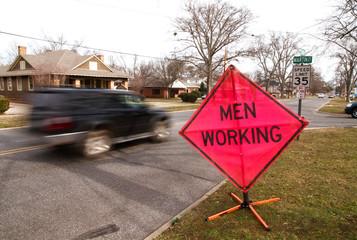 men working sign 02