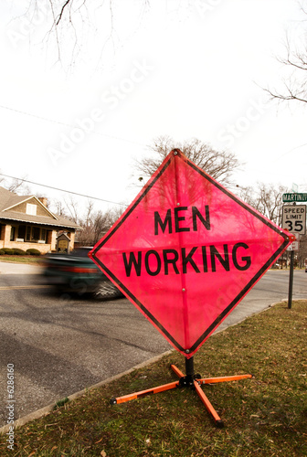 men working sign 03