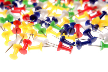 Colorful push-pins