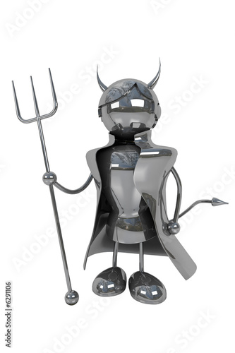 devil, isolated, white background, industry workers
