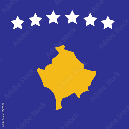 Image of the new Kosovan flag