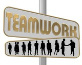 teamwork gold poster