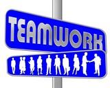 teamwork blau poster