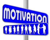 motivation blau poster