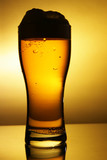 Outline of beer glass with froth poster