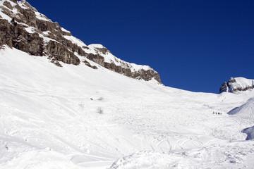 snowy mountain side