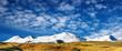 Snowy mountains and blue sky, Plateau Ukok