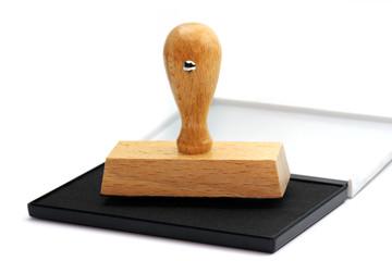 Stempel auf Stempelkissen