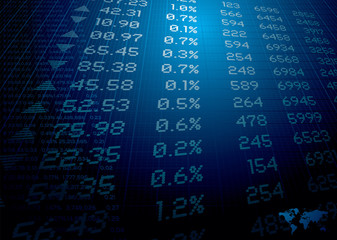 stock market figures on a background