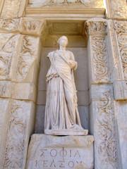 ancient statue in ephesus ancient city