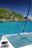 ile paradis bateau naviguer découverte lagon vacances catamaran poster