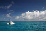 ile paradis bateau naviguer découvrir lagon vacances catamaran poster