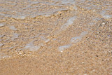gentle water just comes over the sand poster