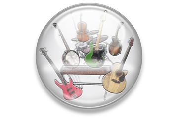 Musikbuttons Aqua: Country Instrumente
