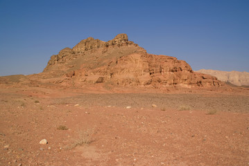 rock and red terrain, timna park, israel...