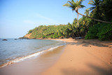 Typical beach in Goa India.